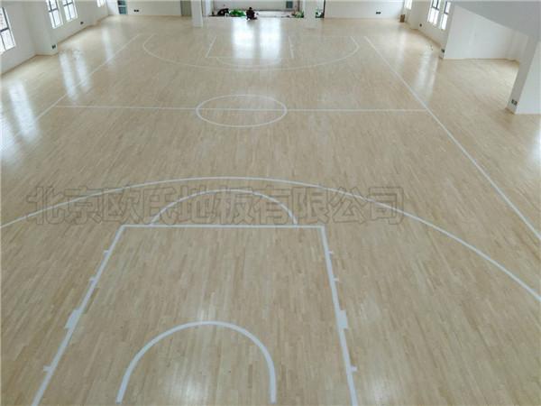双层龙骨篮球木地板--湖北天门杭州华泰小学成功案例