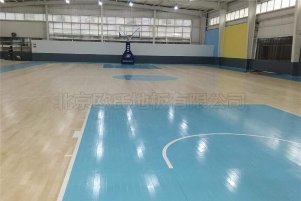 双龙骨运动木地板杭州富阳区23篮球馆成功案例