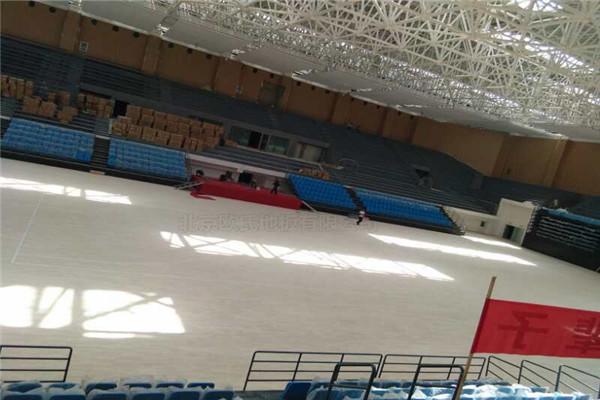 甘肃省酒泉市体育馆篮球木地板成功案例