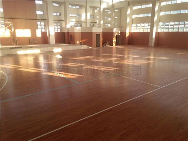 运动木地板--温州瓯海区外国语学校初中分校成功案例