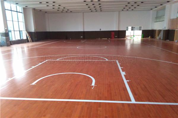 篮球木地板--浙江湖州市吴兴实验中学成功案例