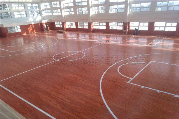 运动木地板--江苏常州溧阳市南渡镇体育馆