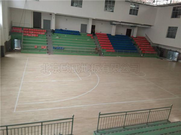 延安吴起高中篮球木地板案例