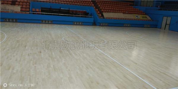 浙江衢州市龙游县体育馆运动木地板案例