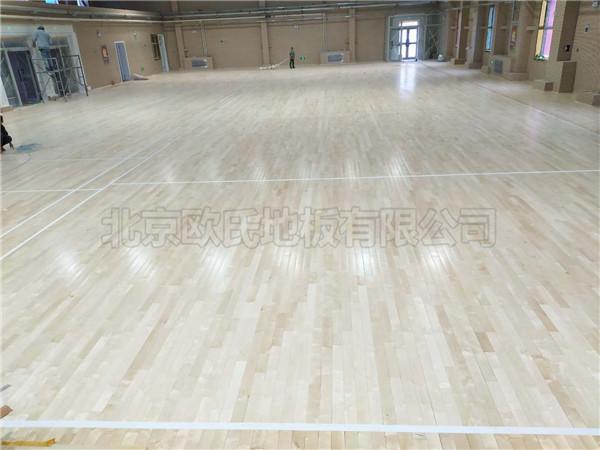 运动木地板--新疆克拉玛依独山子第八幼儿园